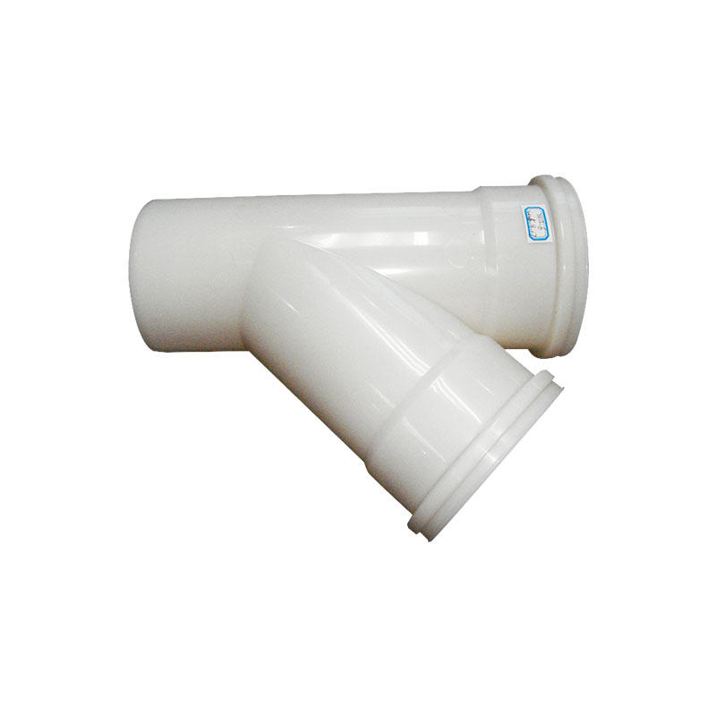 Tee pipe coupling by injection molding