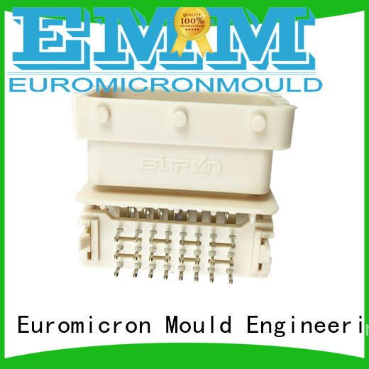 Electronic connector product by precision injection molding